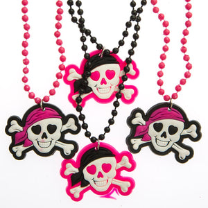 Pink Pirate Beaded Necklaces