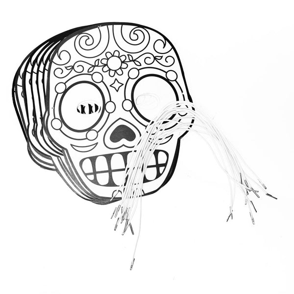 Color Your Own Day of the Dead Masks