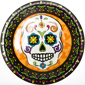 "Day of the Dead 9"" Plates"