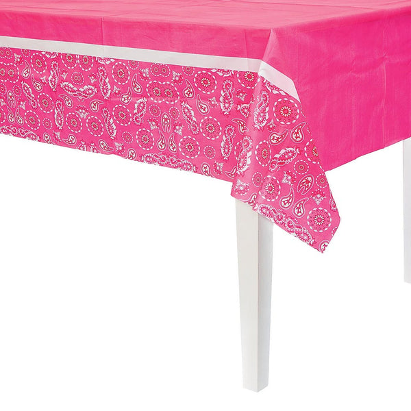 Pink Cowgirl Tablecover