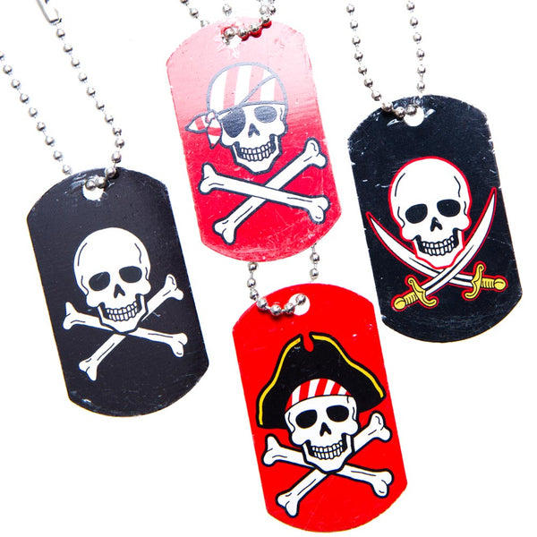 Pirate Dog Tag Necklaces