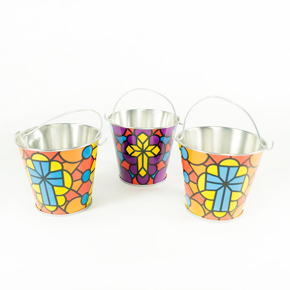 Mini Religious Stained Glass Pail