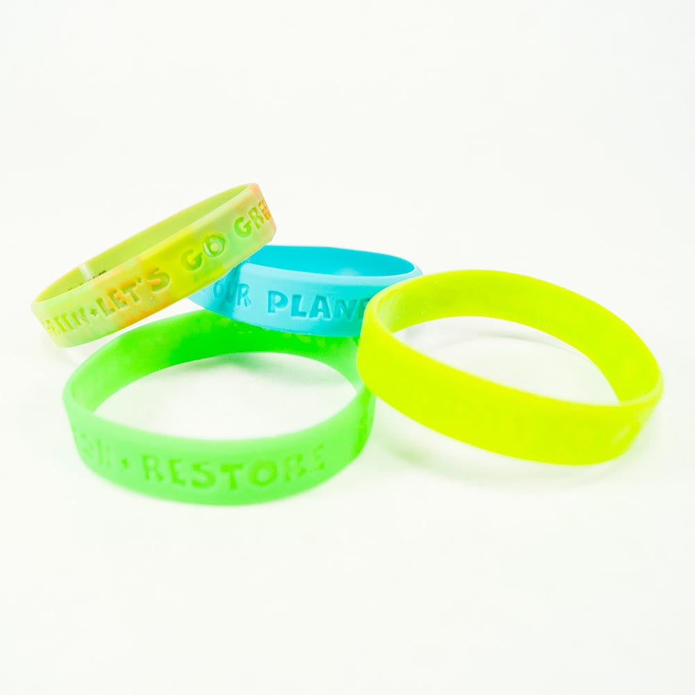 Earth Day Rubber Bracelets