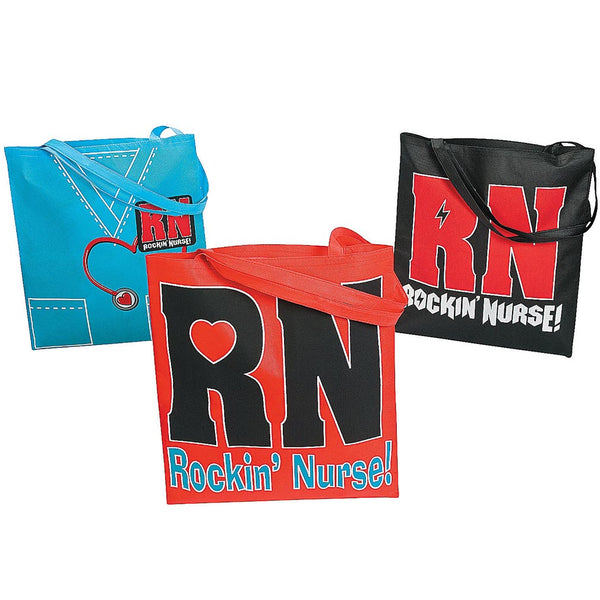 Large Rockin' Nurse Tote Bag