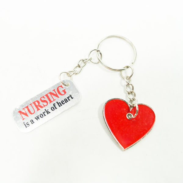 Nursing is a Work of Heart Keychains