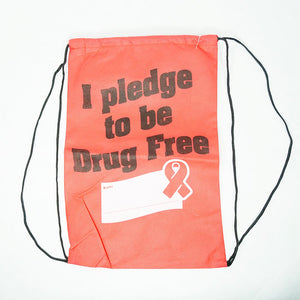 Drug Free Reusable Drawstring Backpacks