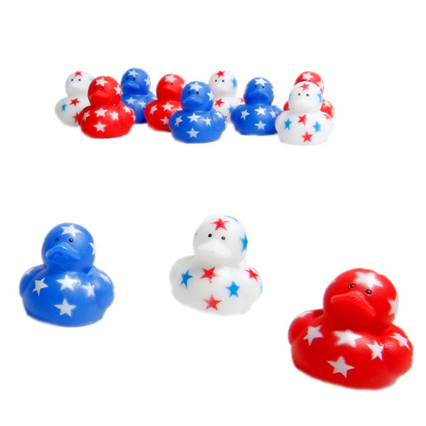 Mini Patriotic Stars Rubber Ducks