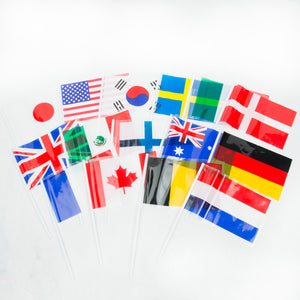 "6"" x 4"" Plastic International Flags"