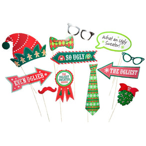 Ugly Christmas Sweater Handheld Costume Props
