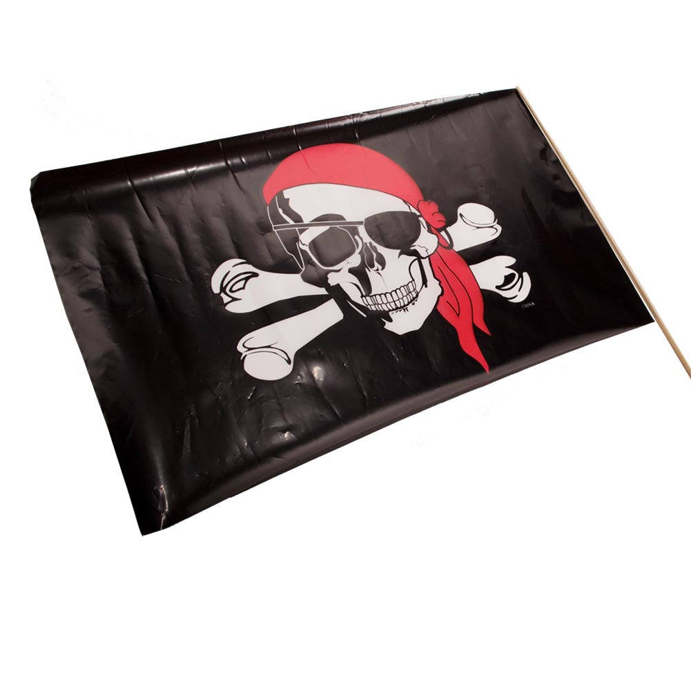 "Plastic Pirate Flags 18"" x 11"""