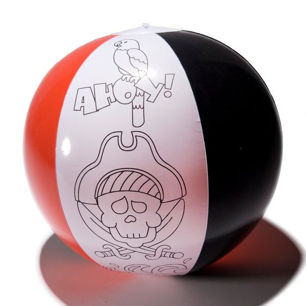 Pirate Color Your Own Beach Ball