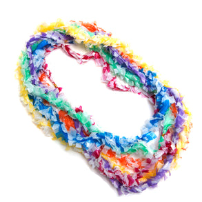 Plastic Two Color Leis