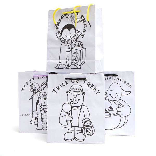 Paper Color Your Own Halloween Gift Bags
