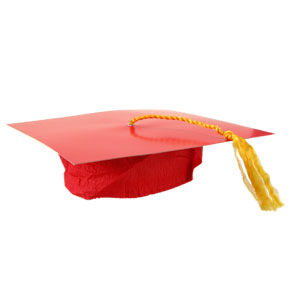Red Cardboard Graduation Cap