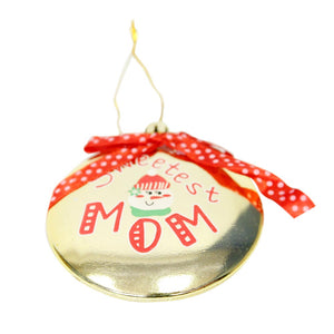 Mom Flat Ball Ornament