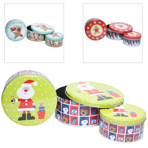 3 Piece Holiday Tins