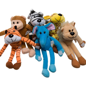 Plush Hanging Zoo Animal