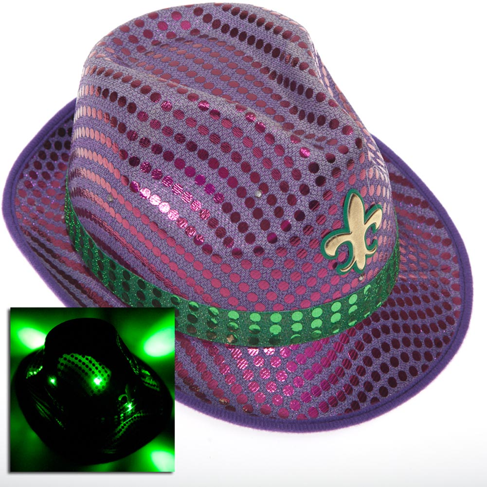 Light Up Fleur De Lis Fedora
