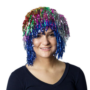 Multi Color Tinsel Wig