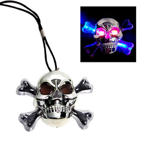 Flashing Skull & Crossbones Necklace