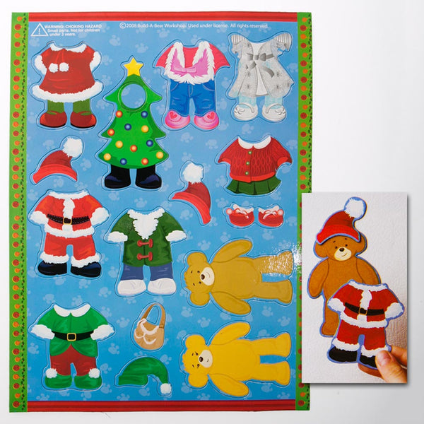 Build-A-Bear Christmas Dress-Up Magnets