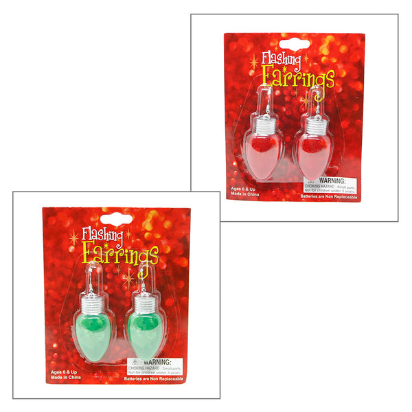 Flashing Holiday Bulb Earrings