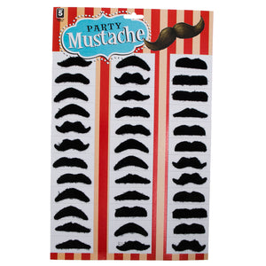 Mini Black Mustache Party Pack