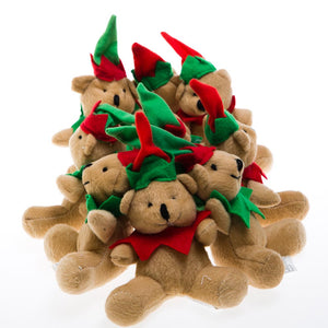 Plush Holiday Elf Bear