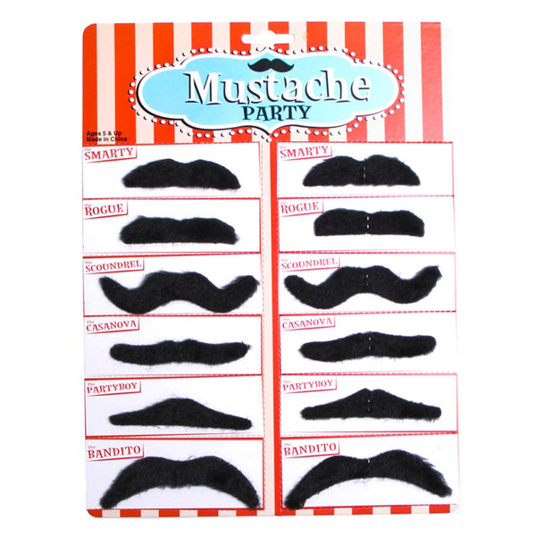 Black Mustache Party Pack