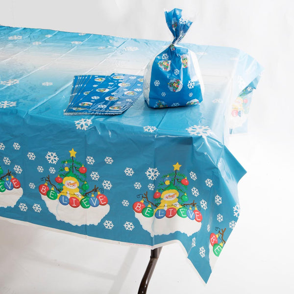 Snowman Tablecover and Treat Bag Set