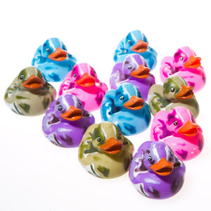 Colorful Camouflage Rubber Ducks
