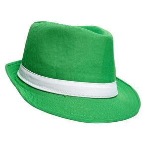 Bright Green Fedora Hat