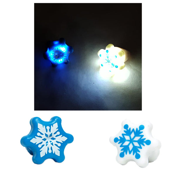 Flashing Snowflake Ring