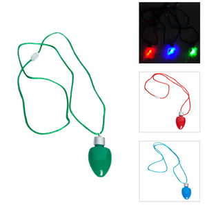 Flashing Holiday Bulb Necklace