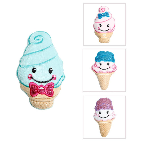 Plush Glitter Ice Cream Cone
