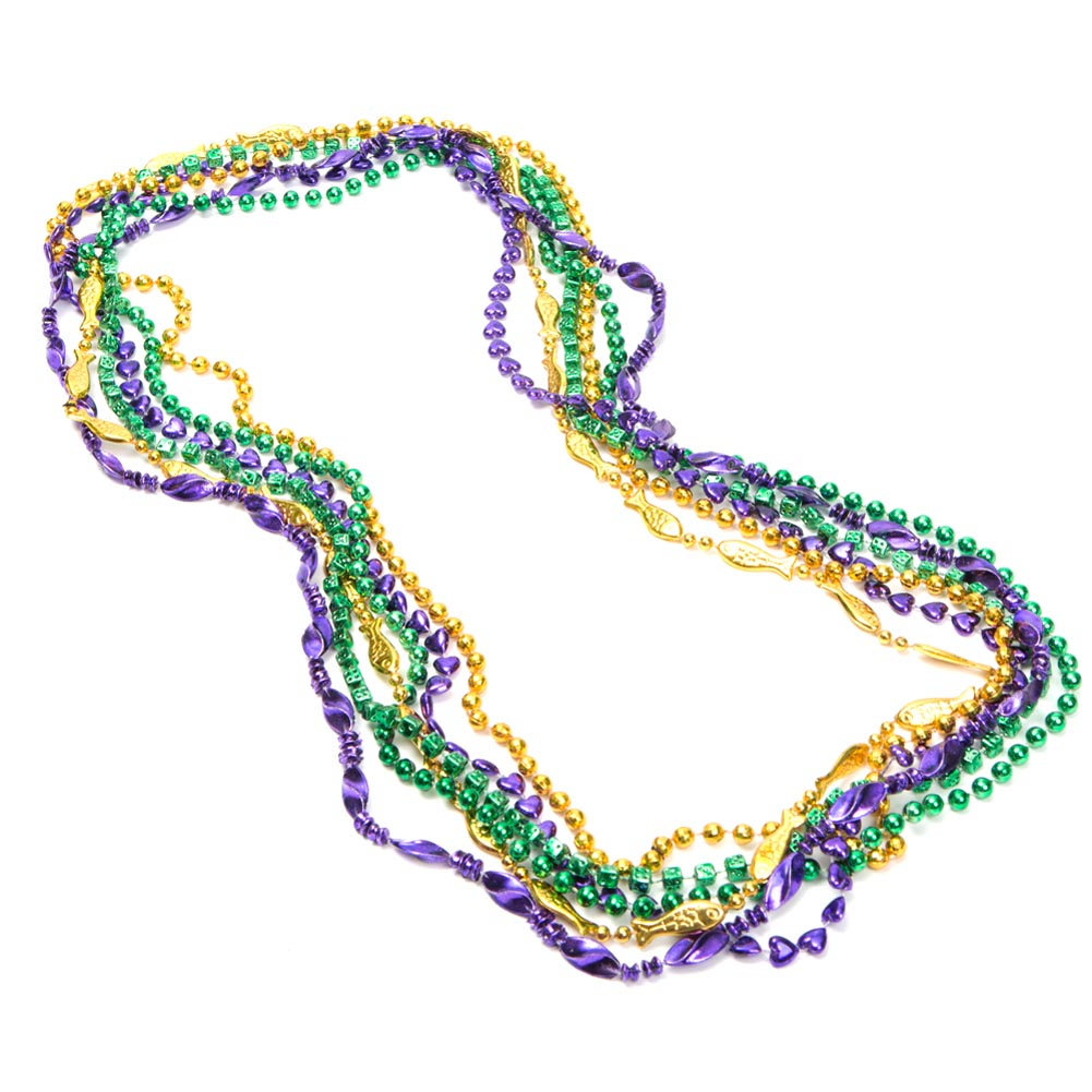 "Assorted 48"" Mardi Gras Bead Necklaces"