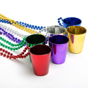 Mardi Gras 1.5 oz. Shot Glass Beads