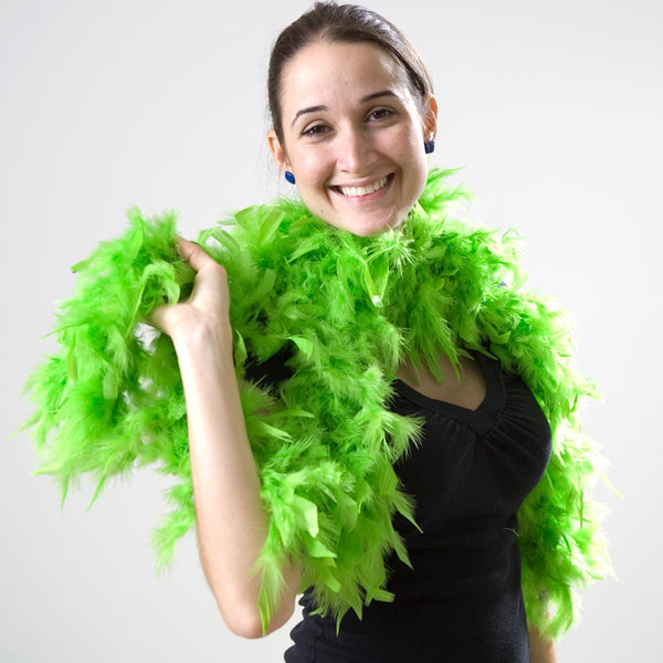 Lime Green Feather Boa