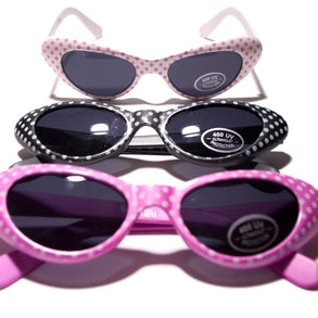 Polka Dot Cat Eye Sunglasses