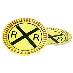 "Railroad Crossing 9"" Plates"
