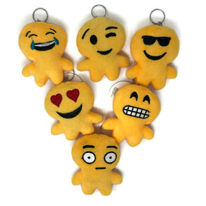 Plush Emoticon Keychains