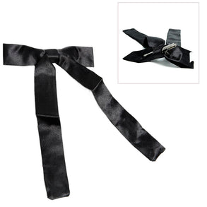 Black Colonel String Tie