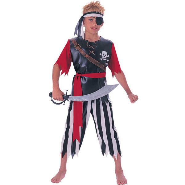 Kids Pirate King Costume (m)