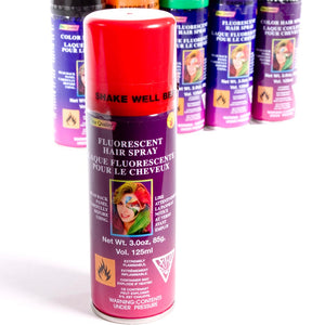 Red Fluorescent Hairspray