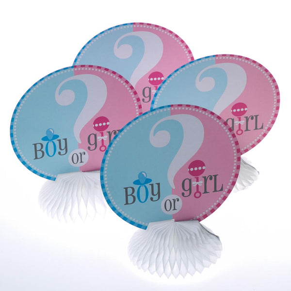Mini Gender Reveal Centerpieces