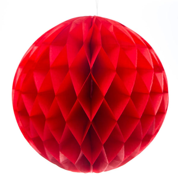 "Red 8"" Tissue Ball"