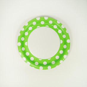 "Lime Green Polka Dot 9"" Plates"