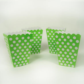 Lime Green Polka Dot Treat Boxes
