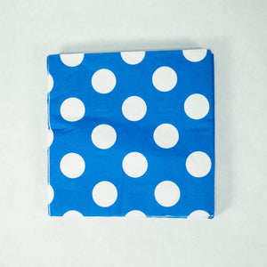 Royal Blue Polka Dot Lunch Napkins