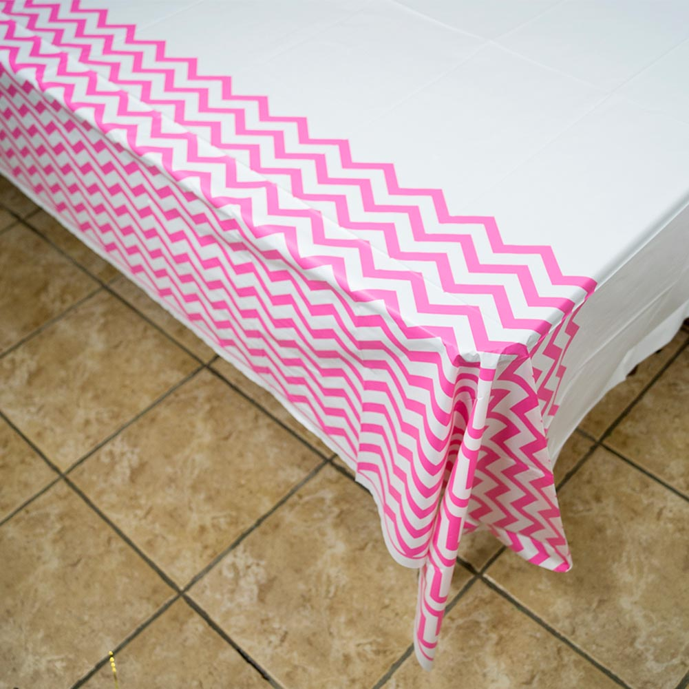 Hot Pink Chevron Tablecover